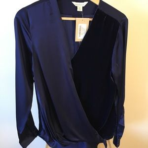 Sundance Blended Paths Velvet & Silk Wrap Top